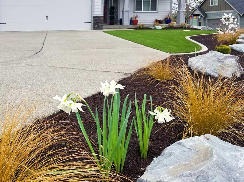 A well designed synthetic turf landscape is aesthetically pleasing and adds value to your property.