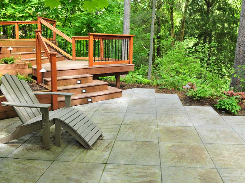 Add value to your property with a custom built wood deck for your yard.