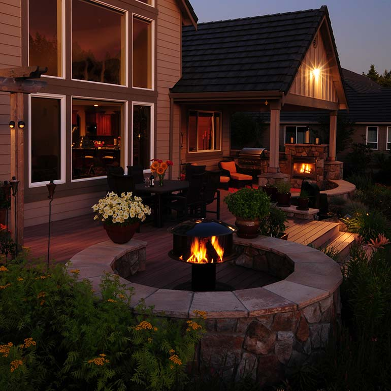 Outdoor Fire Pits by Olympic Landscape LLC - serving Tacoma and Puget Sound WA.