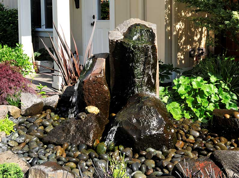 Bring beauty and tranquility to your front doorstep or backyard with a unique water feature designed specifically for your outdoor space.