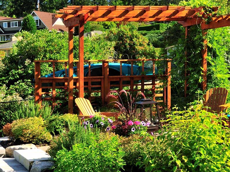 Looking for simple wood arbor and patio design ideas? Olympic Landscape can create the outdoor retreat you've always wanted.