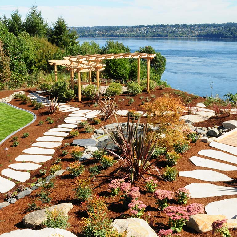 Gig Harbor, WA Landscaping Design by Olympic Landscape LLC