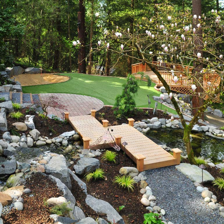 Lakewood Landscaping Design by Olympic - serving Steilacoom, Dupont, Pierce County and the Puget Sound area.