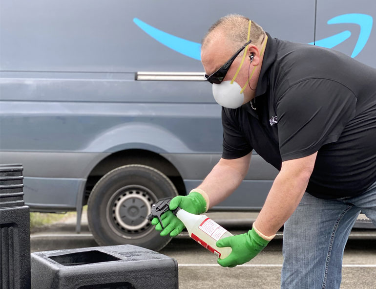 Commercial Sanitation Services by Olympic Landscape in Puyallup, WA and serving Puget Sound.