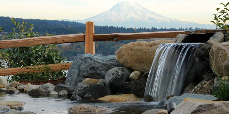 Water Features: waterfall, ponds, and fountain design and installation.