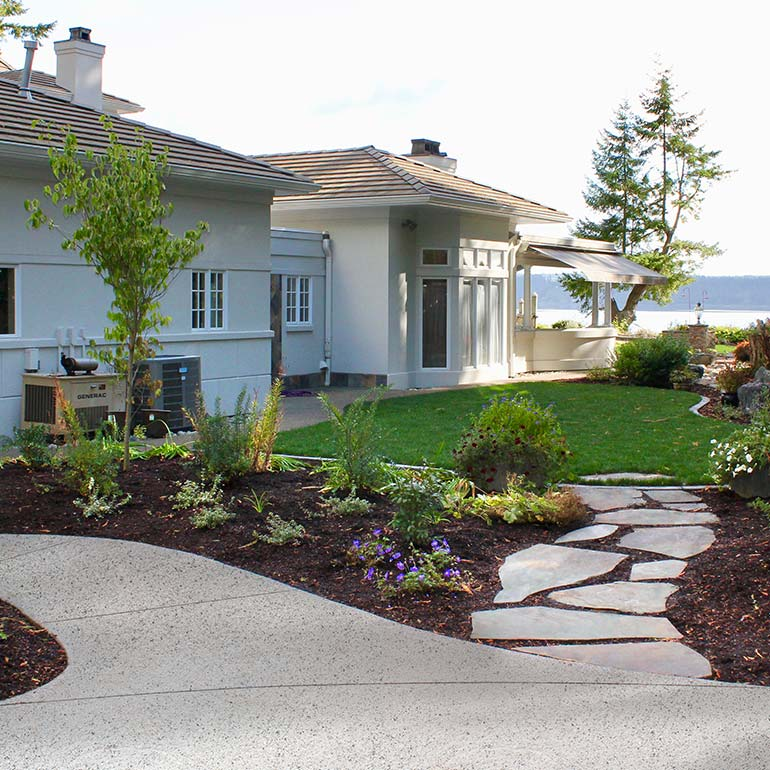 Patios, stone pathways and steps by Olympic Landscape LLC - serving Tacoma, WA and the Puget Sound area.
