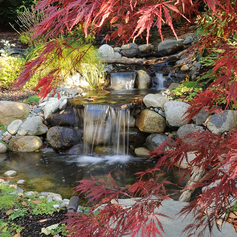 Ponds, Fountains, Waterfalls and Other Water Features by Olympic Landscape LLC - serving Tacoma and all the Puget Sound WA area.