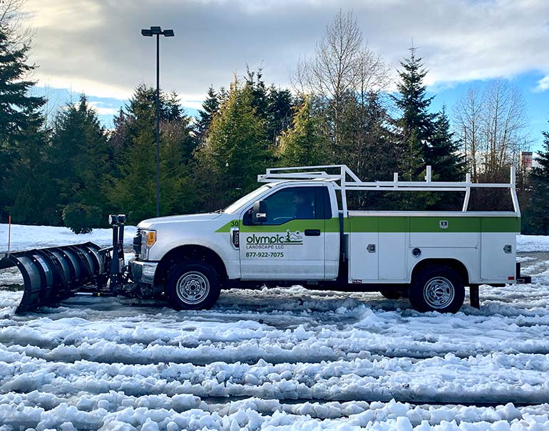 Commercial snow and ice removal companies in Tacoma, Puyallup, and Puget Sound WA - Olympic Landscape LLC.