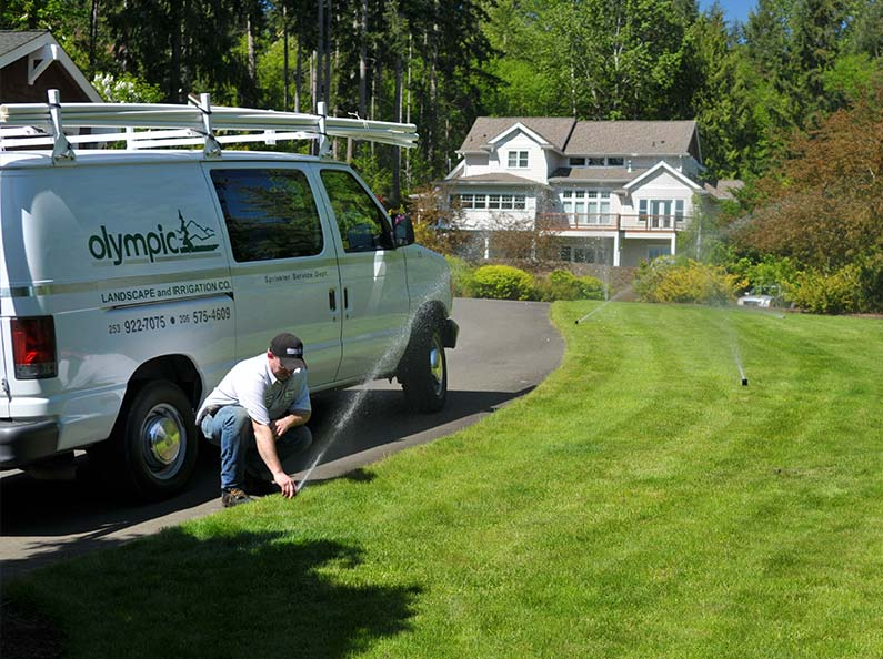 Our sprinkler installation teams are uniformed, mannered professionals.