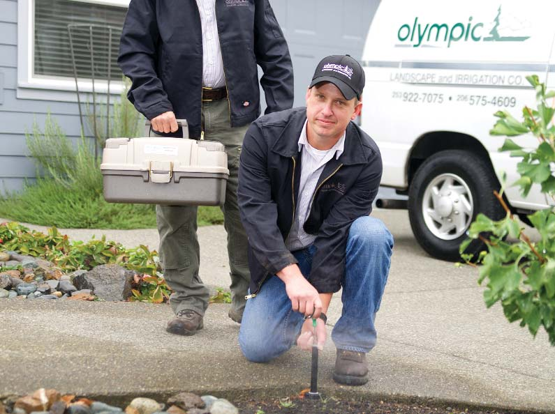 Olympic's Sprinkler Service Department offers superior sprinkler service and repair for both residential and commercial customers.