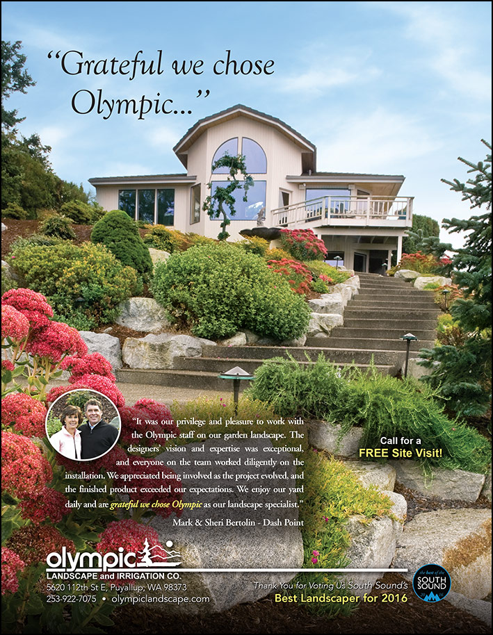 Tacoma landscape design testimonial from a customer - as featured in South Sound Magazine.