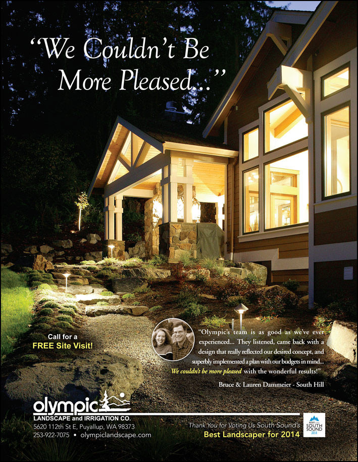 Landscape design testimonial by Bruce and Lauren Dammeier from South Hill, WA as featured in South Sound Magazine.