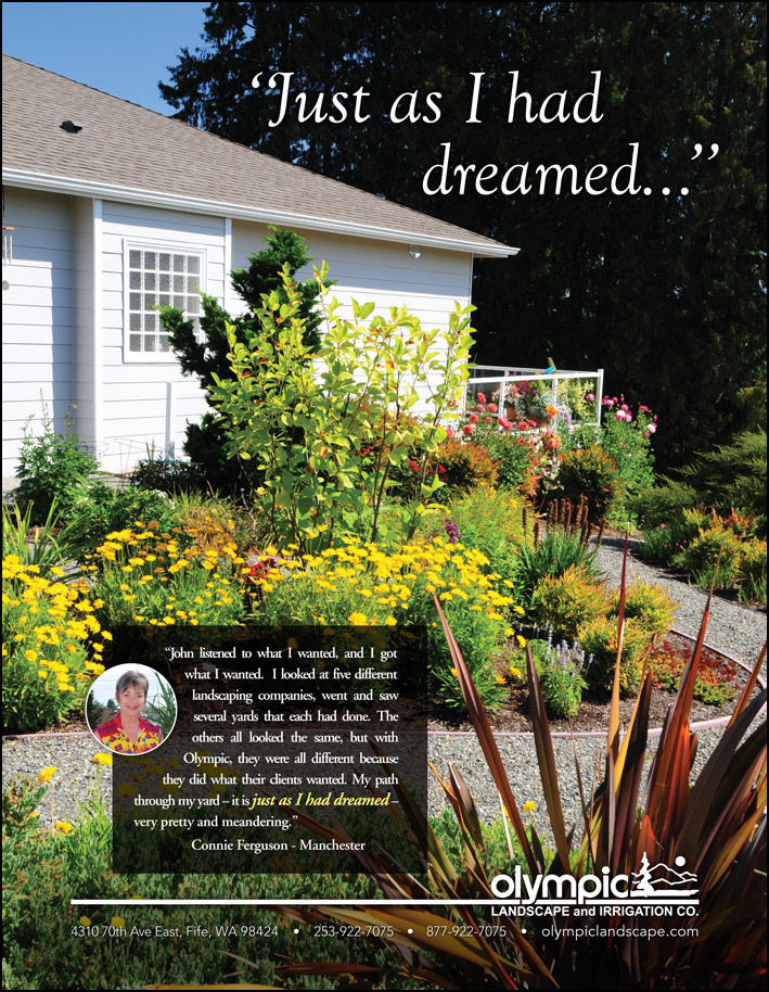 Landscape design testimonial from a customer - as seen in South Sound Magazine.