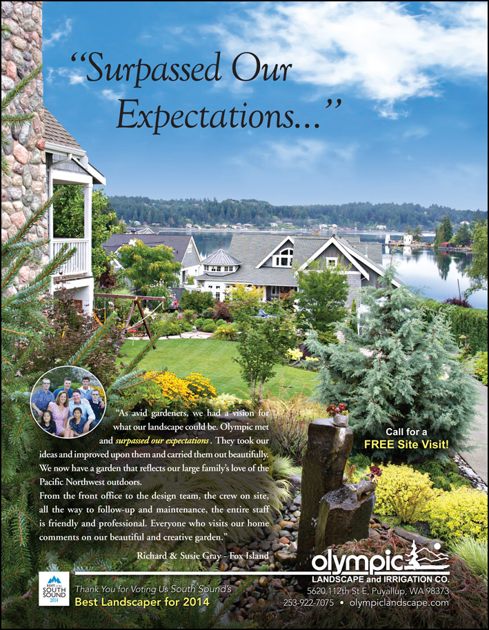 Synthetic turf testimonial from a Lakewood, WA customer as seen in South Sound Magazine.