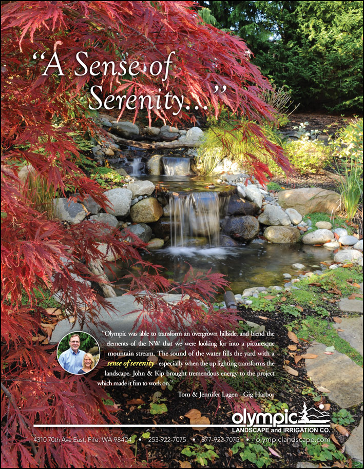 Gig Harbor, WA landscape design testimonial from a customer as seen in South Sound Magazine.
