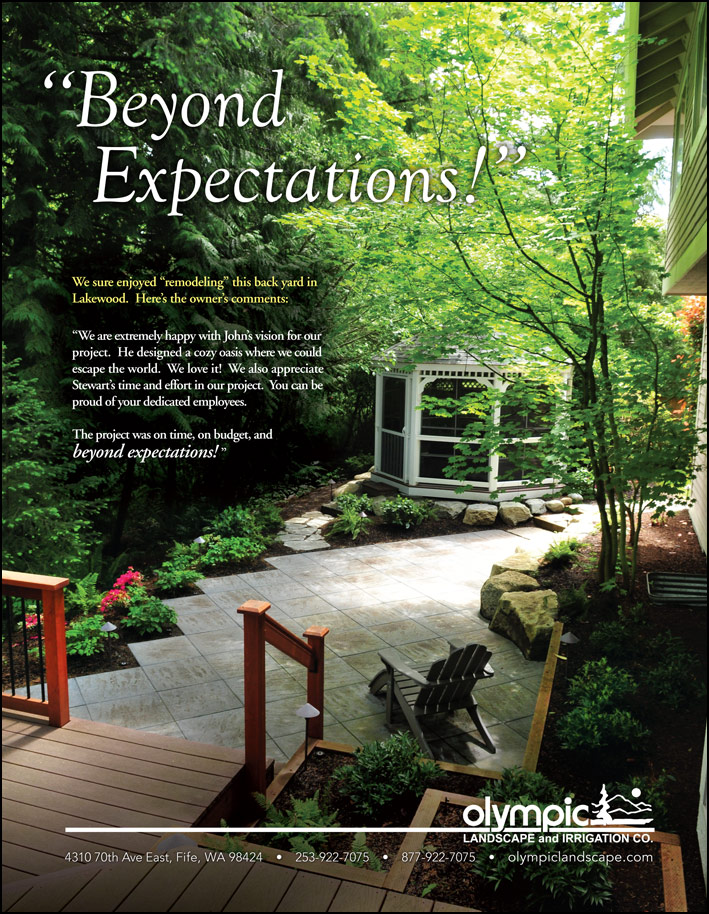 Testimonial by a landscape remodel customer from Lakewood, WA as featured in South Sound Magazine.