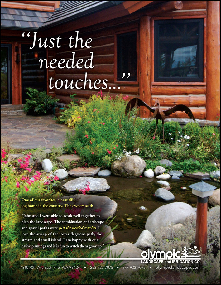 Olympic Landscape testimonial as featured in South Sound Magazine.