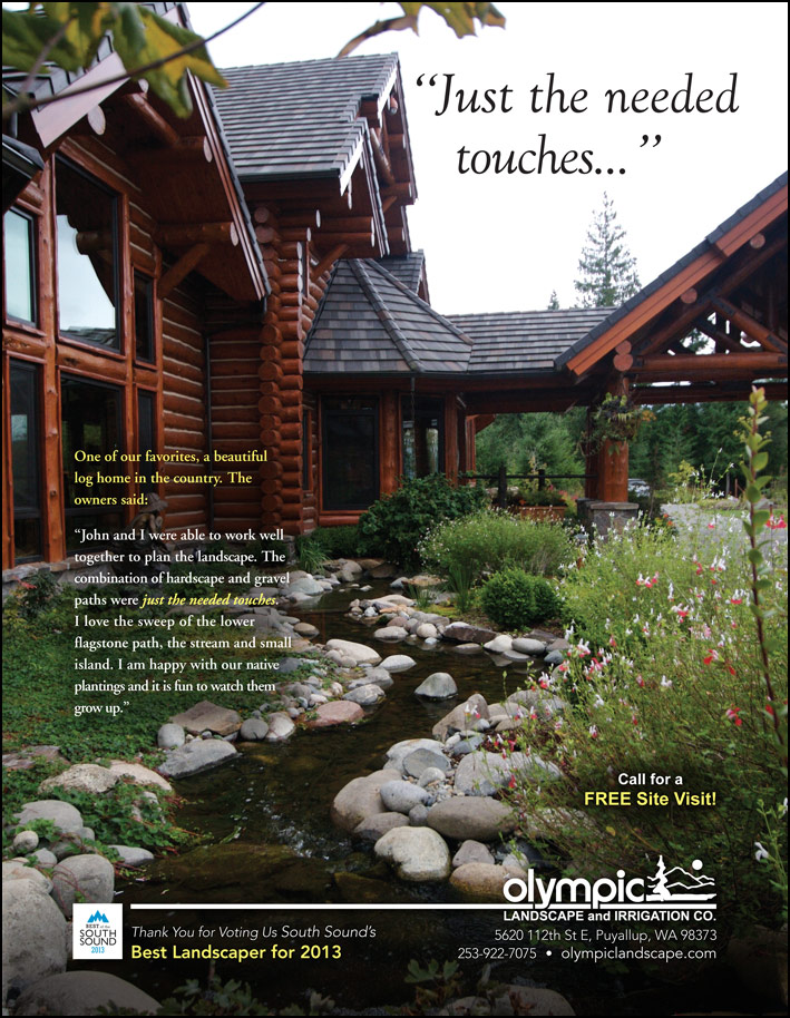 Landscape design testimonial as featured in South Sound Magazine.