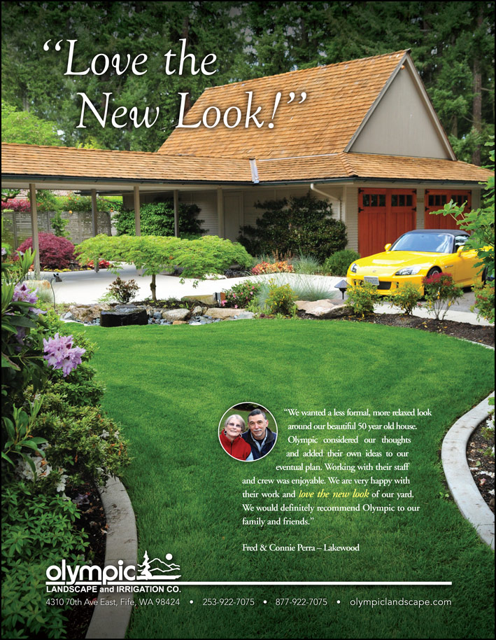 Landscape design testimonial from a customer - featured in South Sound Magazine.