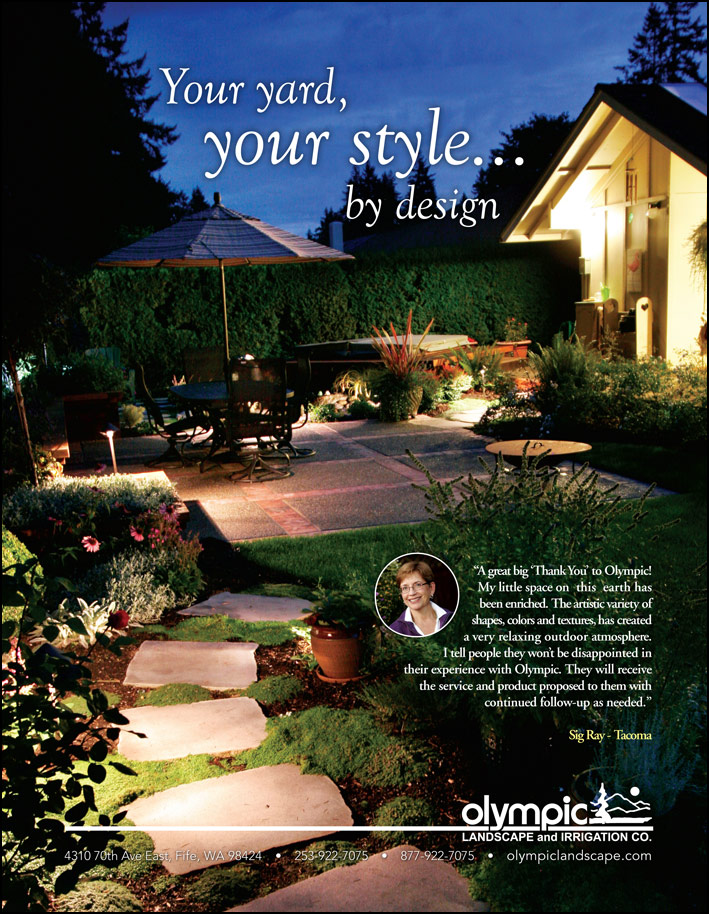 Landscape design testimonial by Sig Ray from Tacoma, WA as featured in South Sound Magazine.