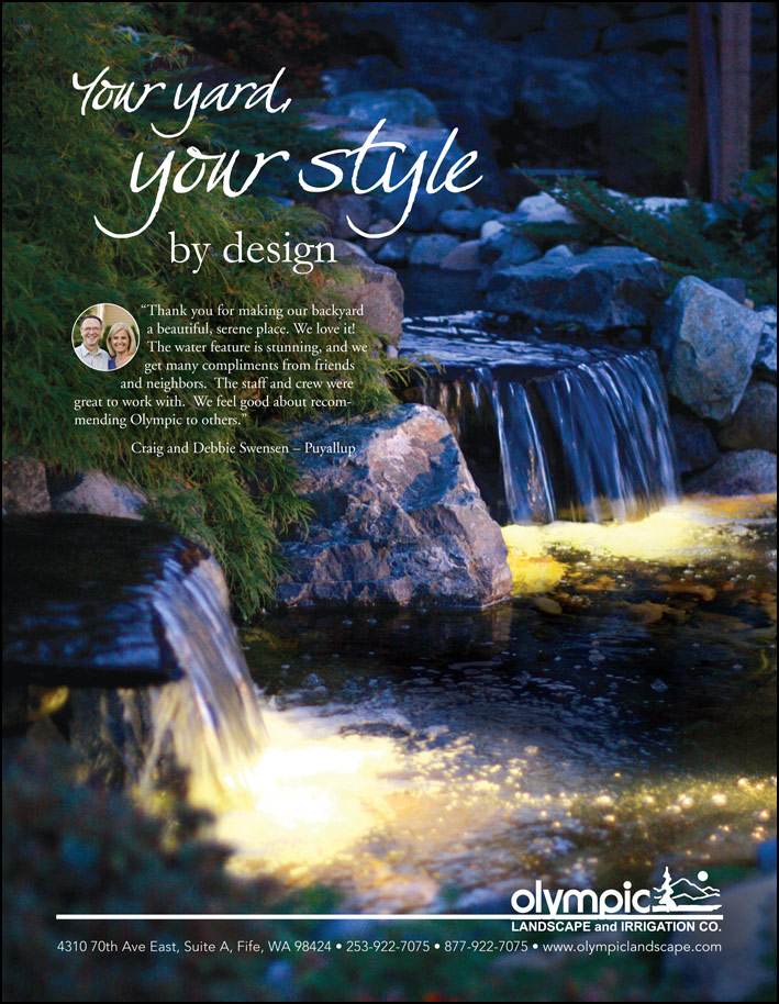 Landscape design testimonial by Craig and Debbie Swensen from Puyallup, WA as featured in South Sound Magazine.