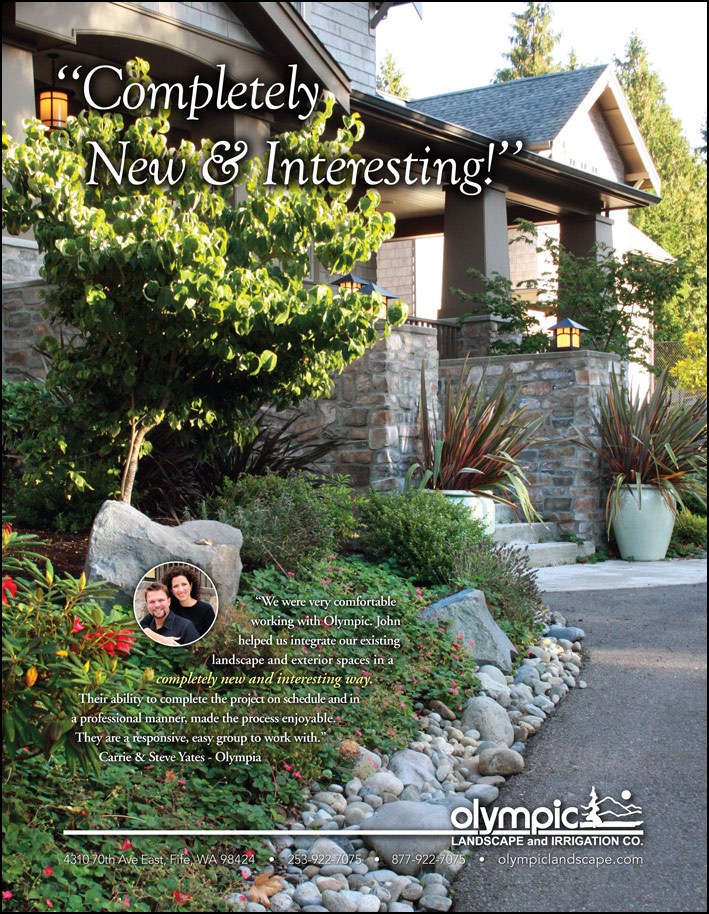 Olympia, WA landscape design testimonial from a customer - featured in South Sound Magazine.