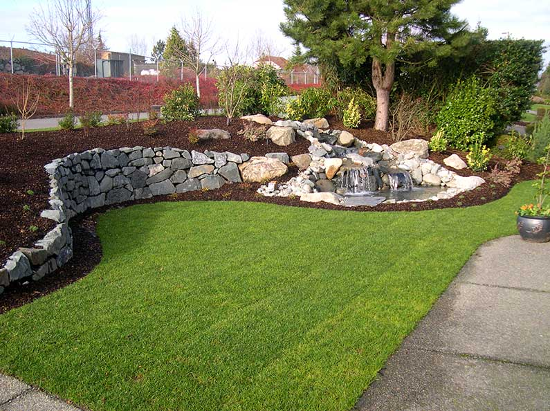 Stone Landscaping Walls Design