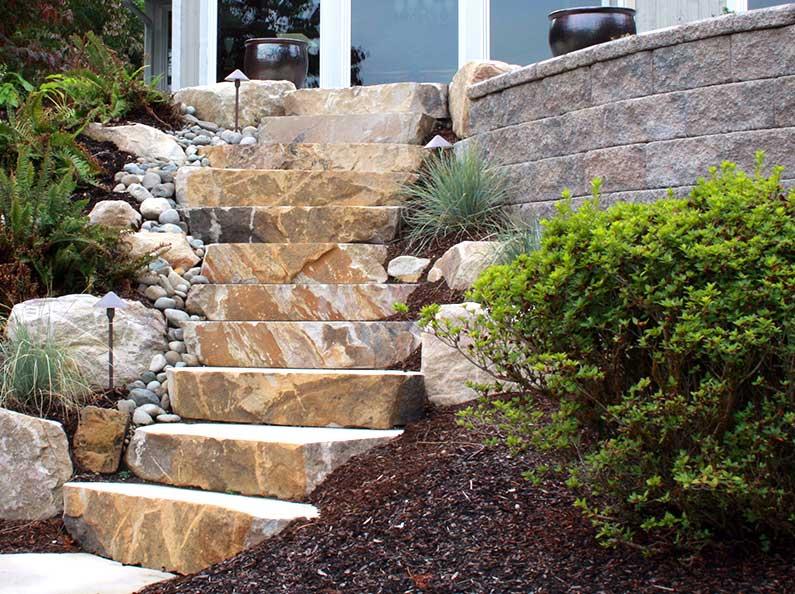 Stone Landscaping Walls Design Construction